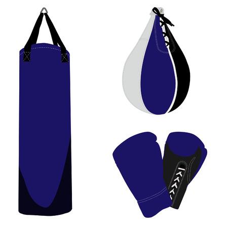 guantes boxeo: Conjunto boxeo, guantes de boxeo, saco de boxeo, la bolsa de boxeo