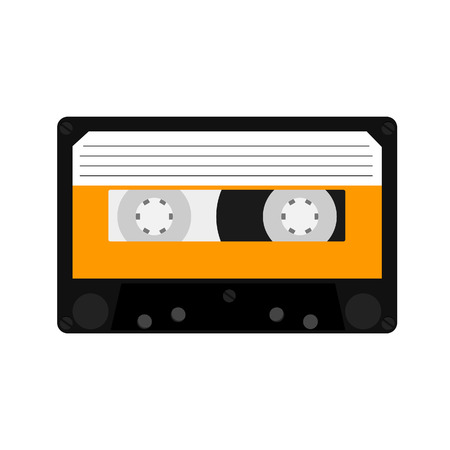 cassette tape: Cassette, cassette tape, audio cassette, cassette vector Illustration