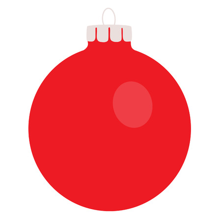 Red christams ball, decoration, christmas ball, isolated on white Illustration