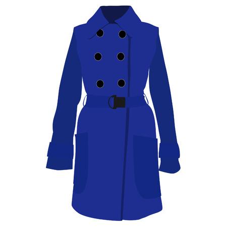 trench coat: Trench coat, trench coat vector, trench coat isolated, blue coat