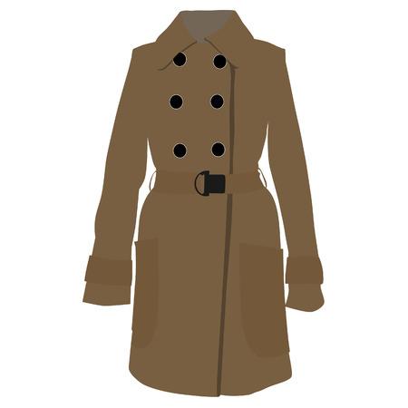 trench coat: Trench coat, trench coat vector, trench coat isolated, brown coat