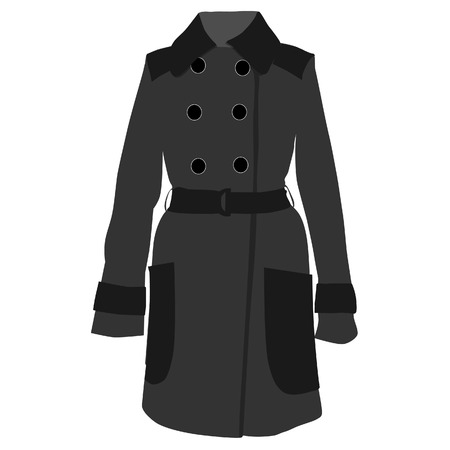 the trench: Trench coat, trench coat vector, trench coat isolated, grey coat