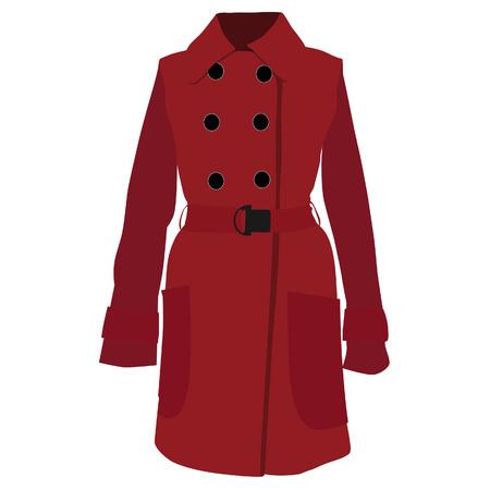 trench coat: Trench coat, trench coat vector, trench coat isolated, red coat