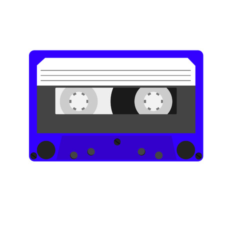 analogical: Cassette, cassette tape, audio cassette, cassette vector Illustration