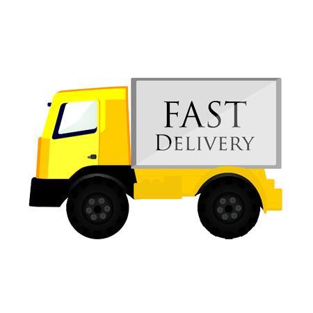 car delivery: Fast delivery, delivery car, delivery van, delivery truck, delivery service Illustration