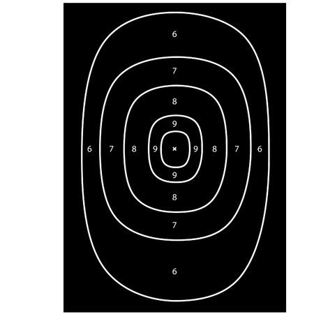 shooting target: Black shooting vector, schietbaan, bullseye, pistool doel Stock Illustratie