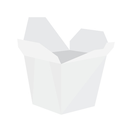 chinese take away container: White noodle box , asian fast food,  take away box,  takeaway noodles,