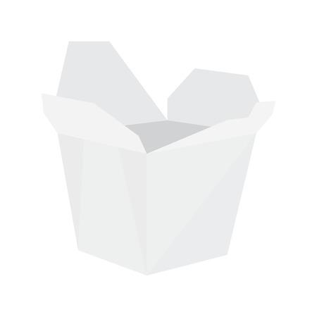 chinese takeout box: White noodle box , asian fast food,  take away box,  takeaway noodles,