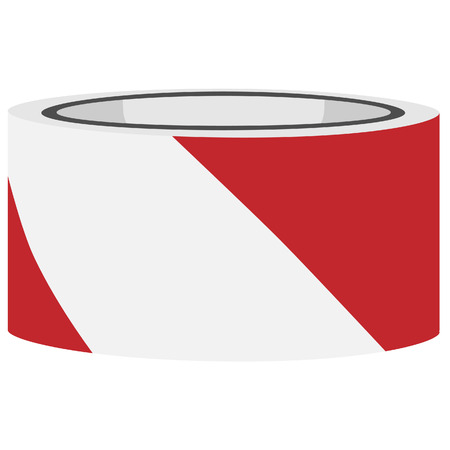 police tape: Red and white danger tape vector, caution tape, police tape Illustration