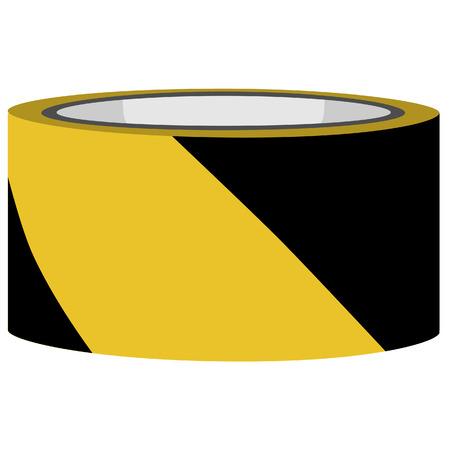 tape marker: Yellow and black danger tape vector, caution tape, police tape Illustration