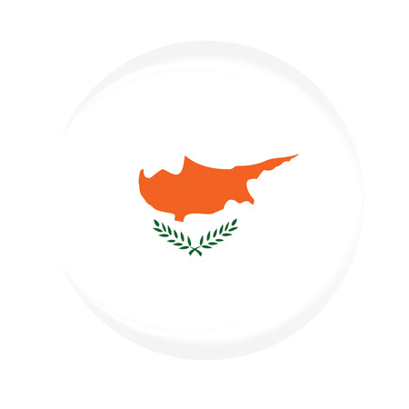 cyprus: Round cyprus flag vector icon isolated, cyprus flag button
