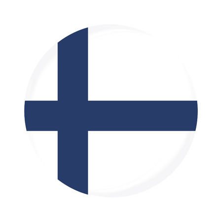 finland flag: Round finland flag vector icon isolated, finland flag button