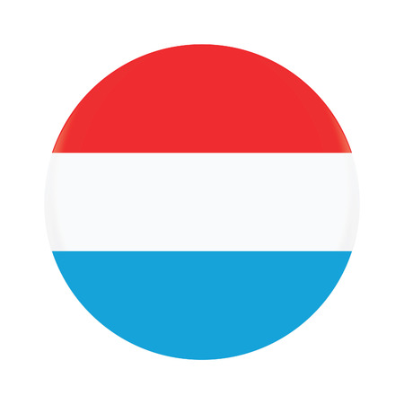 Round luxembourg flag vector icon isolated, luxembourg flag button
