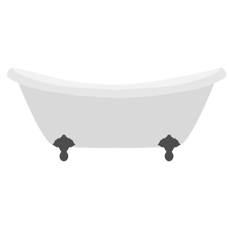 bathwater: White clean bath vector isolated, bathwater, bathroom