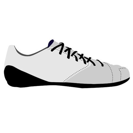 fitness training: White sport running, fitness, training shoe isolated icon