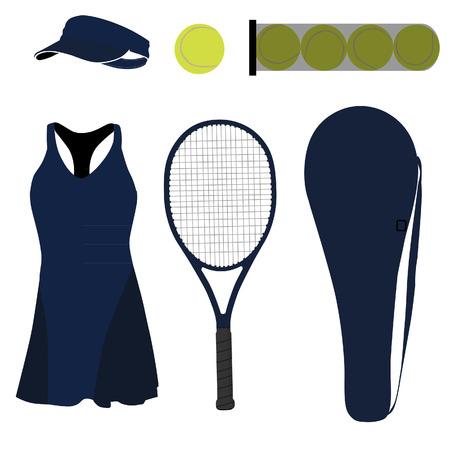 sportswear: Blue tennis set with sportswear