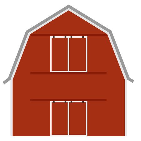 old barn: Vecchio fienile rosso fattoria ot, porta della stalla, vettore isolato, agricoltura
