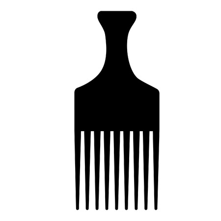 comb: Black hairdresser, barber hair comb vector isolated, salon comb, small comb