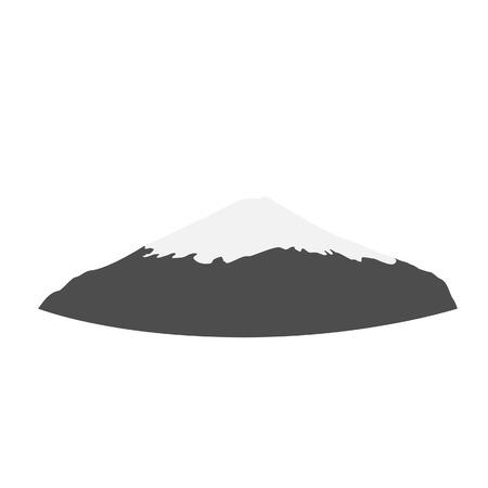 himalaya: Snow mountain peak vector isolated, himalaya, alps, volcano fuji, mount fuji