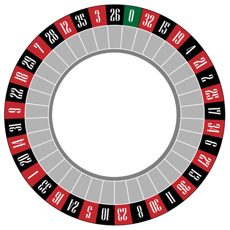 luck wheel: Casino roulette wheel vector icon isolated, gamble