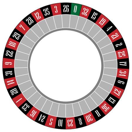 Casino roulette wiel vector pictogram geïsoleerd, gok