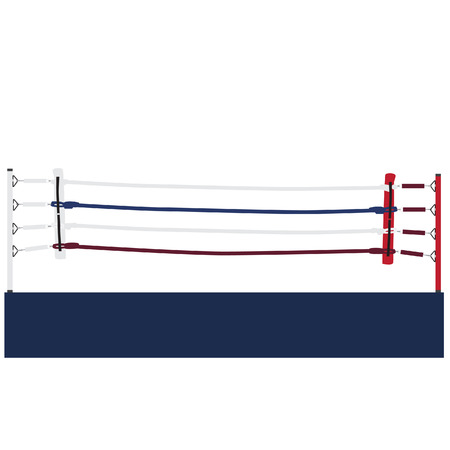 Empty boxing ring vector isolated, boxing ring ropes, platform, training Vector