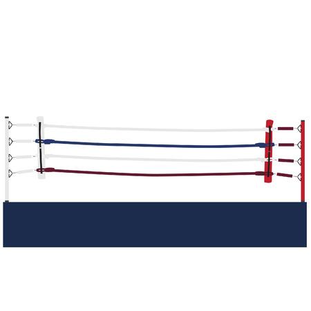 Empty boxing ring vector isolated, boxing ring ropes, platform, training Vektoros illusztráció