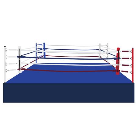 Vaciar vector ring de boxeo aislado, cuerdas del ring de boxeo, la plataforma, la formación Ilustración de vector