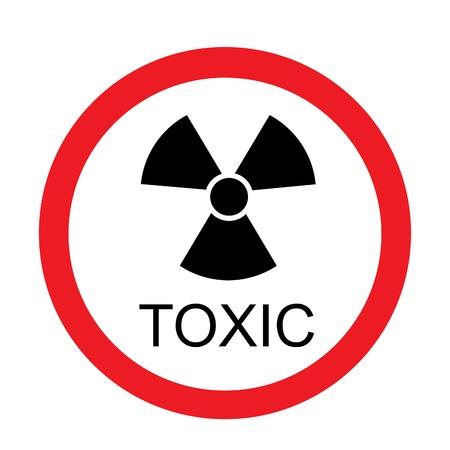 toxic: Round toxic sign vector isolated, toxic symbol, radiation, chemical Illustration