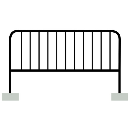 restrict: Black barrier vector isolated, guard  restrict caution