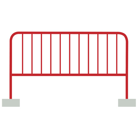 restrict: Red barrier vector isolated, guard  restrict caution