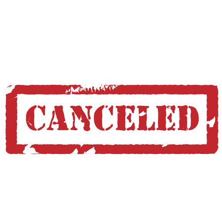 canceled: Red rubber stamp with text canceled vector isolated , watermark Illustration