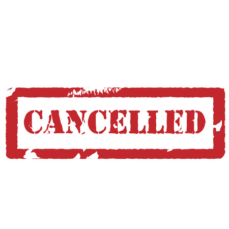 cancelled: Red rubber stamp with text cancelled vector isolated , watermark