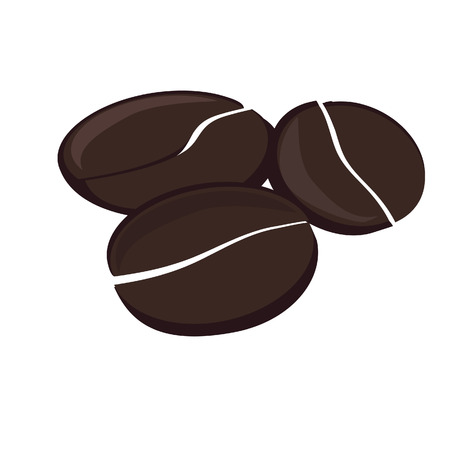 Brown and black coffee beans vector isolated, espresso, cappuccino