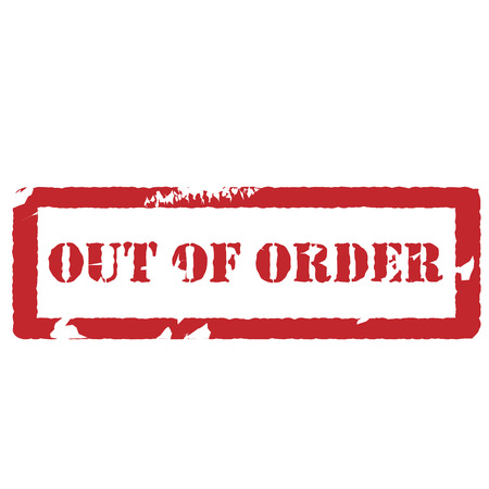 out of order: Red rubber stamp with text out of order vector isolated