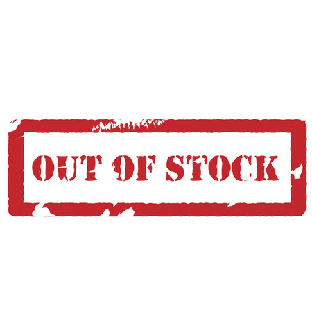 sold isolated: Red rectangle rubber stamp with text out of stock vector isolated, sold out stamp Illustration