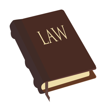 law book: Brown closed law book  vector isolated, justice, juridical education