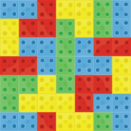 Pattern full Bausteine ??Lego, blau, grün, gelb und rot, nahtlose