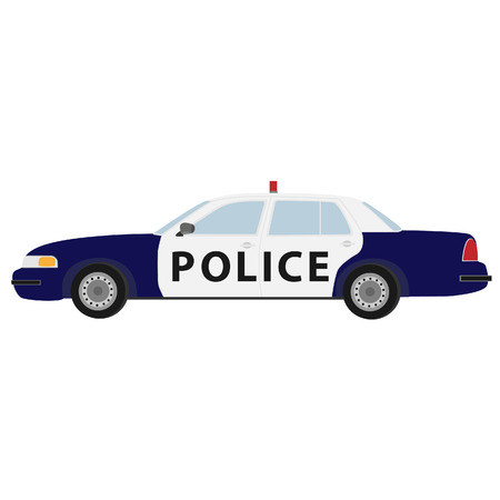 patrol: Police car vector icon isolated, security, patrol cop Illustration