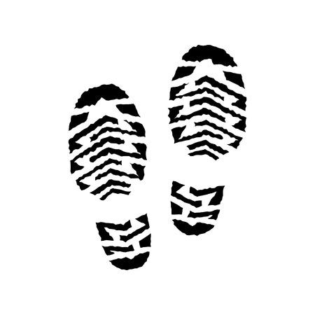 running shoe: Scarpa stampa vettore isolato, coppia, correndo impronta di scarpa, silhouette