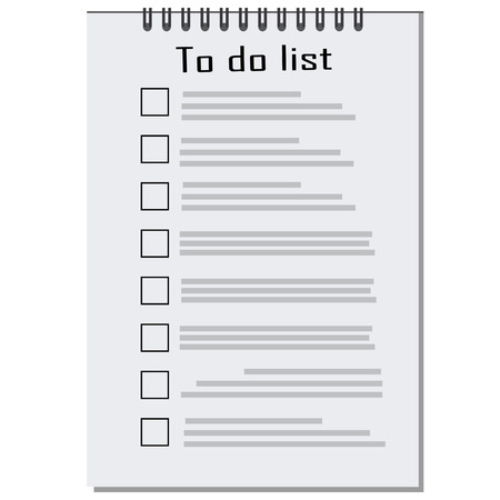 to do list: Vector list with checkboxes icon, to do list, shopping list, wish list, empty to do list