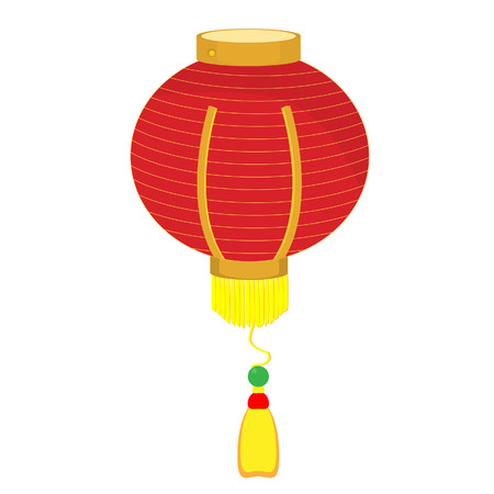 red lantern: Chinese traditional paper red lantern, light vector isolated