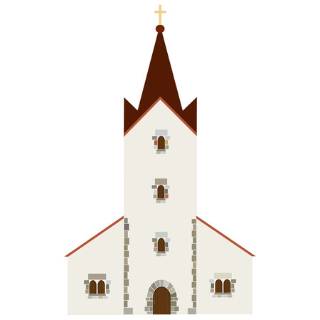 church bell: Church building vector icon, wedding chapel, christianity  catholic