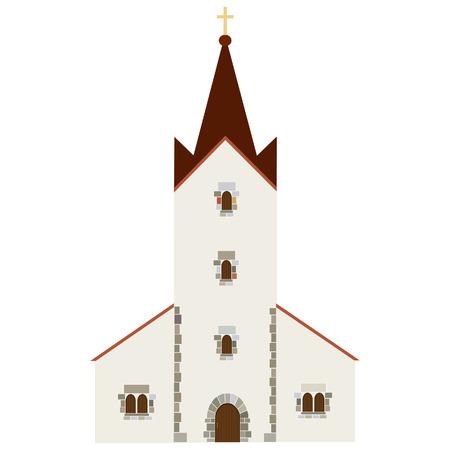 chapel: Church building vector icon, wedding chapel, christianity  catholic
