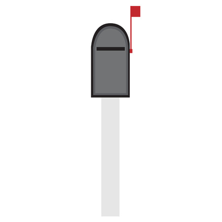 letter box: Mailbox vector icon isolated, letter box, email delivering