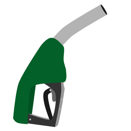 hydrocarbons: Green petroleum pump vector icon isolated, fuel dispenser, fuel pump vector,