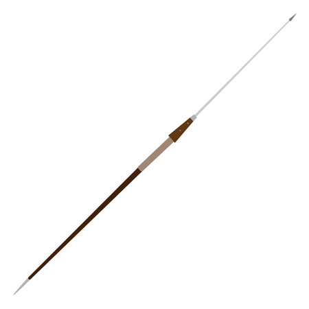 spear: Steel pilum, spear antique weapon vector isolated