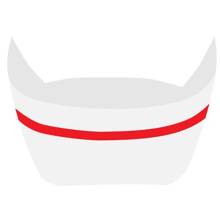 chapeau blanc: Vecteur Infirmi�re chapeau isoler sur blanc, chapeau blanc m�dicale, premi�re annonce