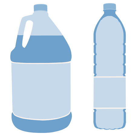 distilled: Big bottle water, bottle water, gallon, drinking water, bottle water isolated Illustration