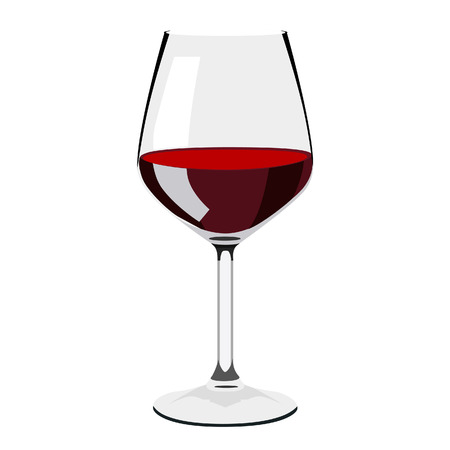 cabernet: Illustration of glass of wine,  wine, glass, wine glasses, wine glass isolated, red wine glass, wine tasting